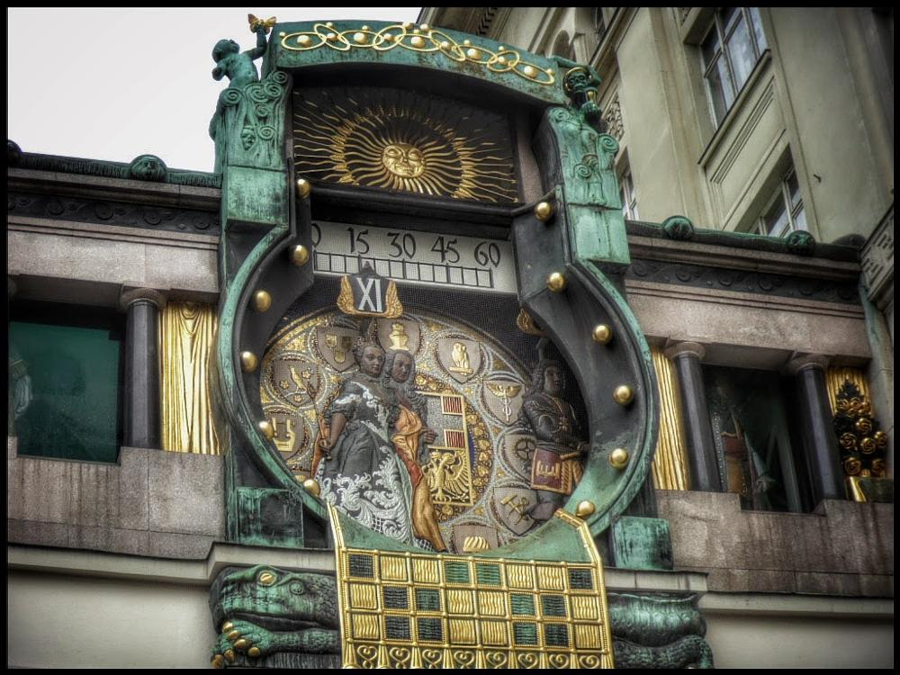 Photo in Architecture #viena #viagem #o ankeruhr viena