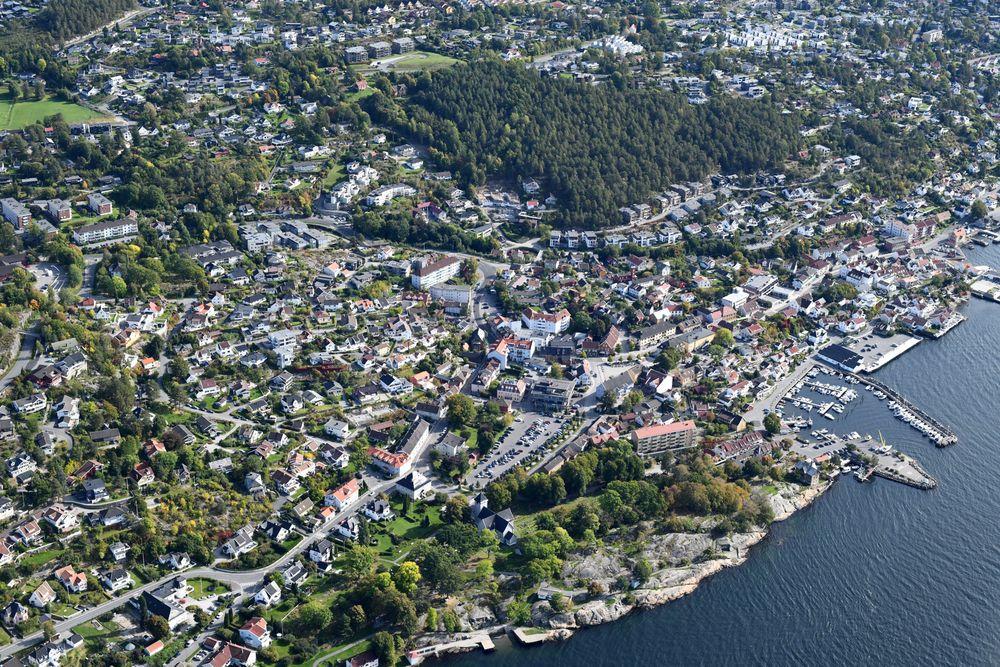 Photo in Aerial #drøbak #norway #norgesarkivet