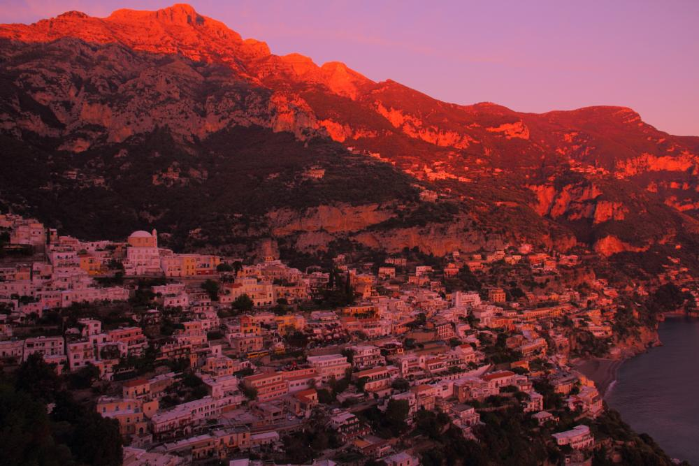 Photo in Landscape #positano #twilight #belvedere #evening