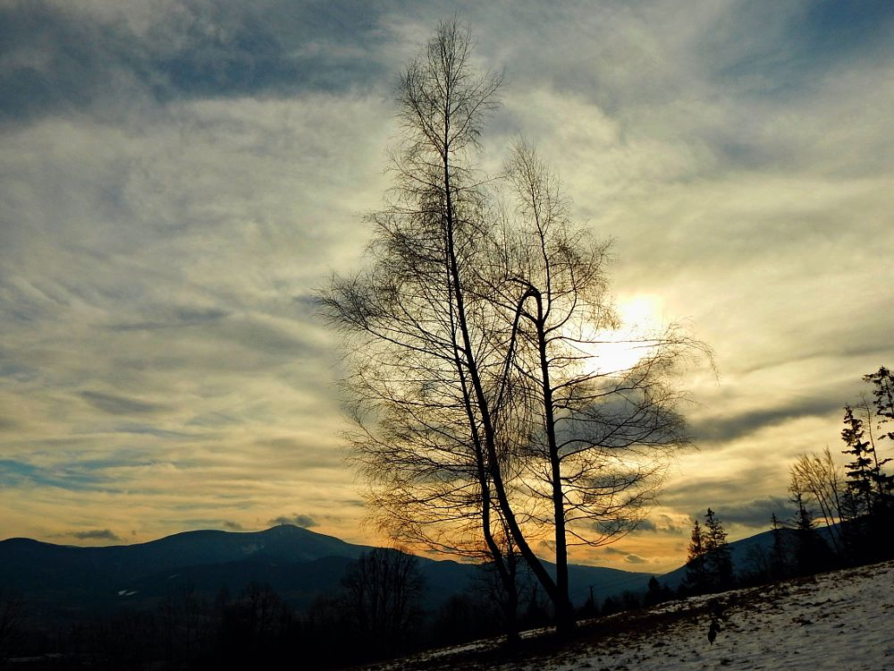 Photo in Landscape #mountain #clouds #view #winter
