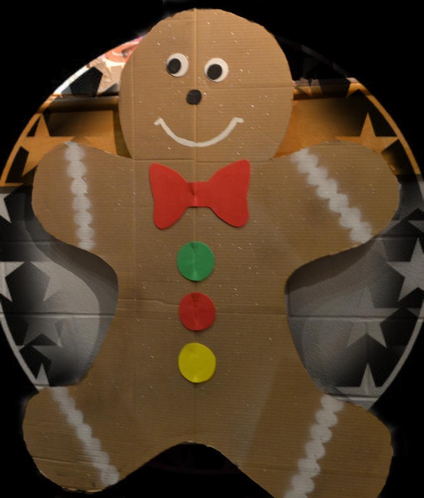 Photo in Random #gingerbread man #card board #school program