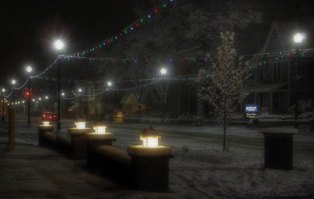 Photo in Random #christmas #ohio #columbiana #snow #street #lights