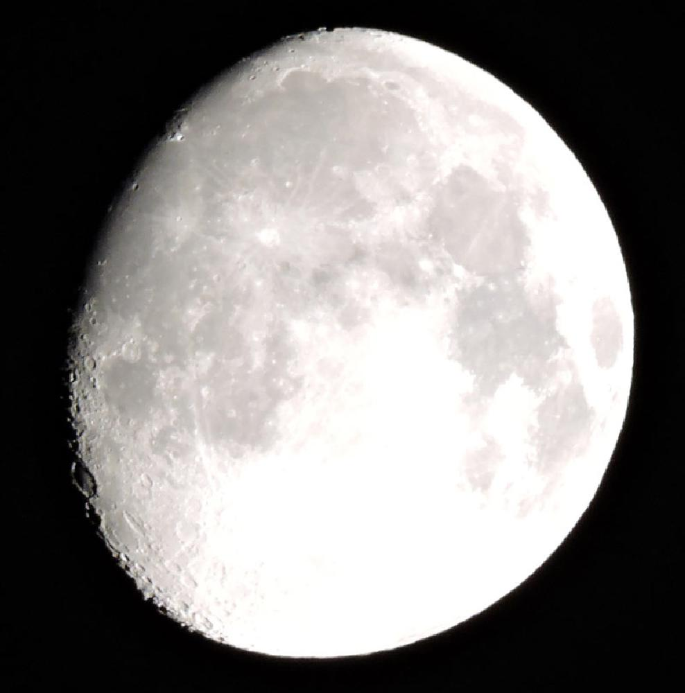 Photo in Black and White #moon #night #craters #contrast #black #white