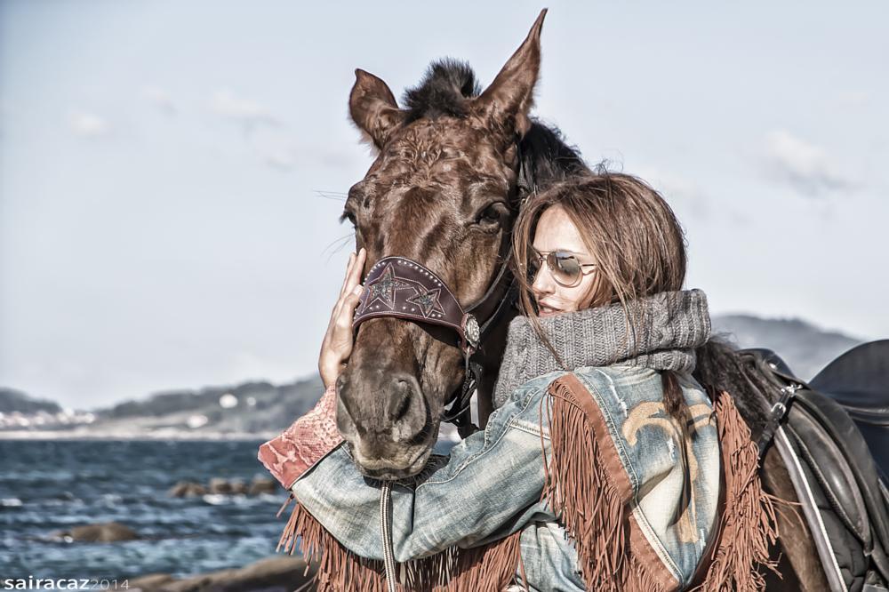 Photo in Fashion #moda #caballo #horse #playa #beach #fashion #vigo #galicia #samil