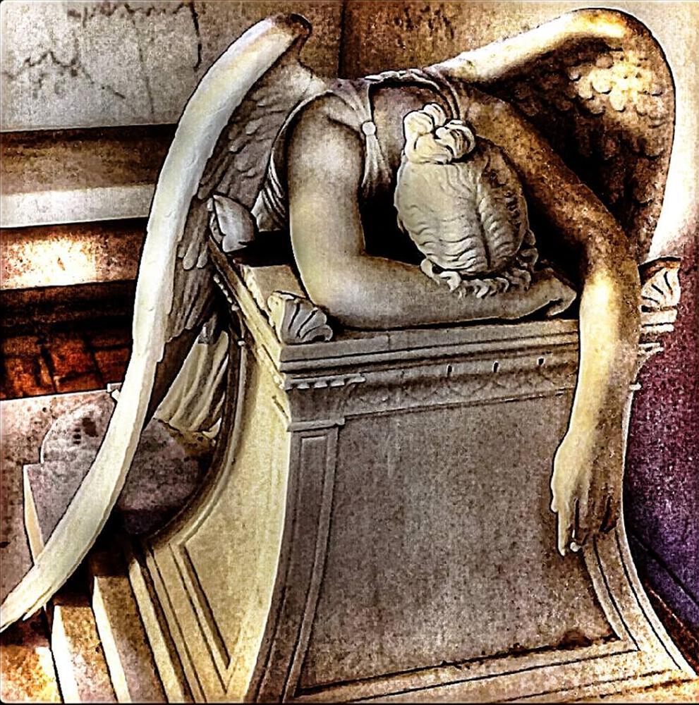 Photo in Random #weeping angel #cemetery #new orleans