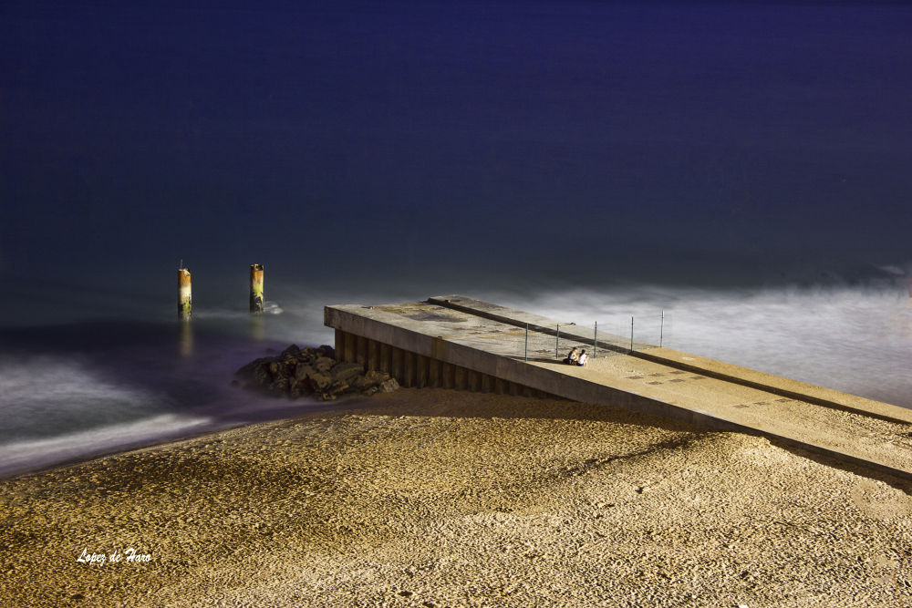 Photo in Landscape #nocturna #esposicion larga #playa