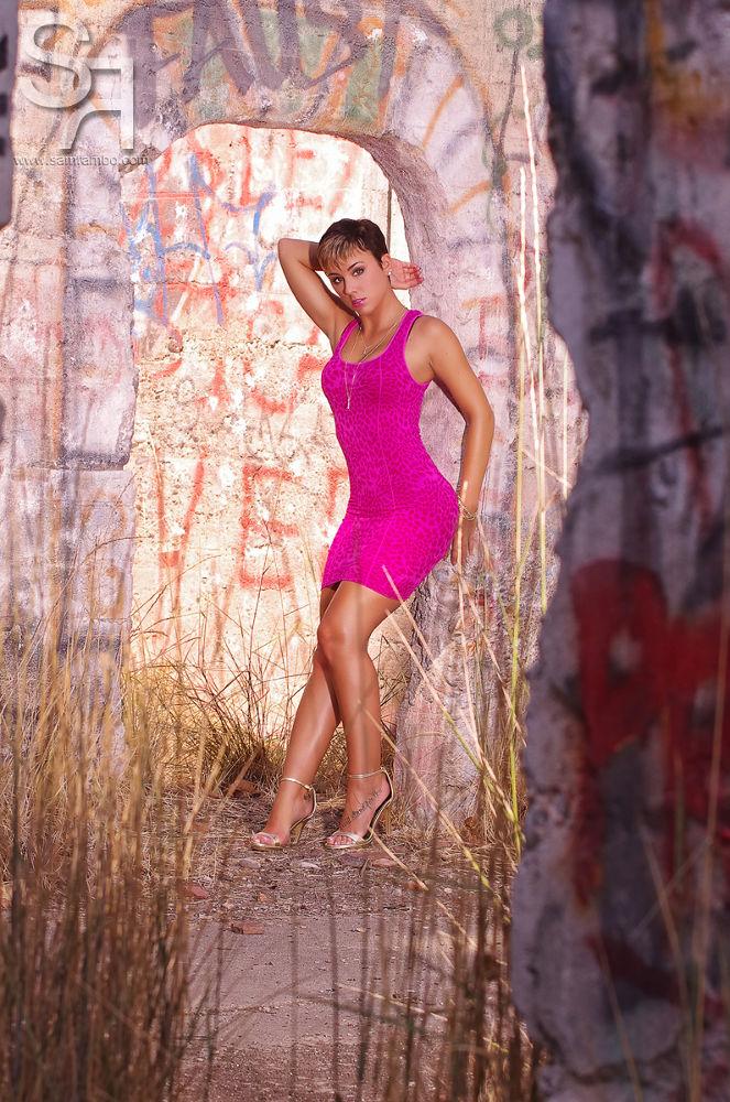 Photo in Fashion #sam #rambo #lynnzie cherelle #pink #dress #fashion #glamour #model #sexy #legs #female #girl #woman #lighting #sam rambo