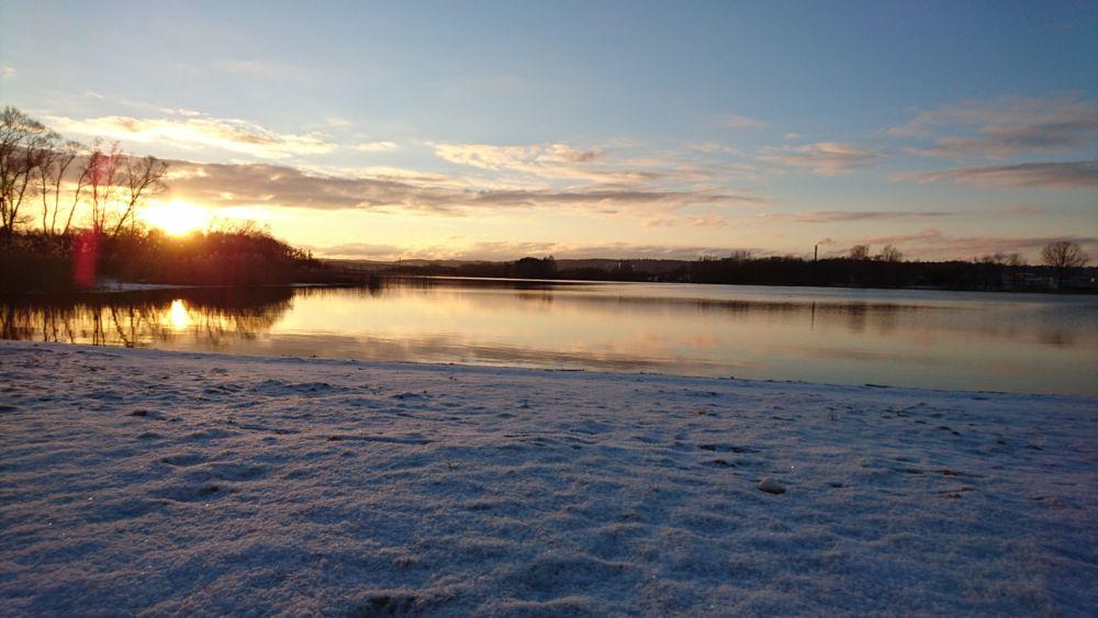 Photo in Landscape #lake #winter #sunset