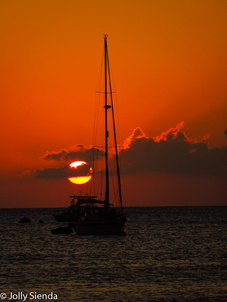Photo in Sea and Sand #cayman islands #sunsets #water #boats #moon