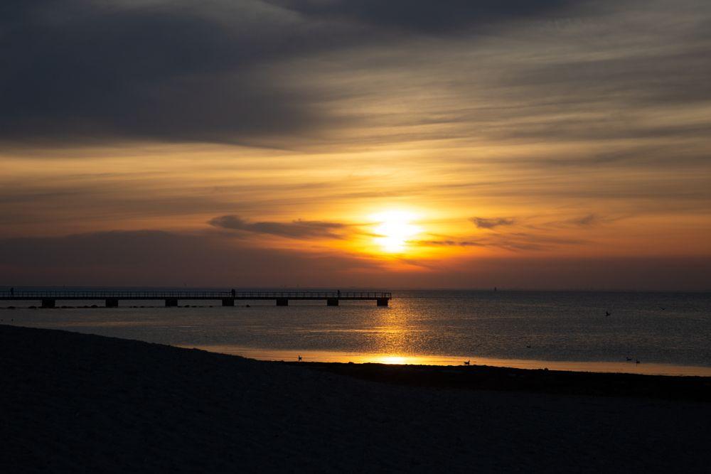 Photo in Random #solnedgång #sunset #ribersborg #långa bryggan