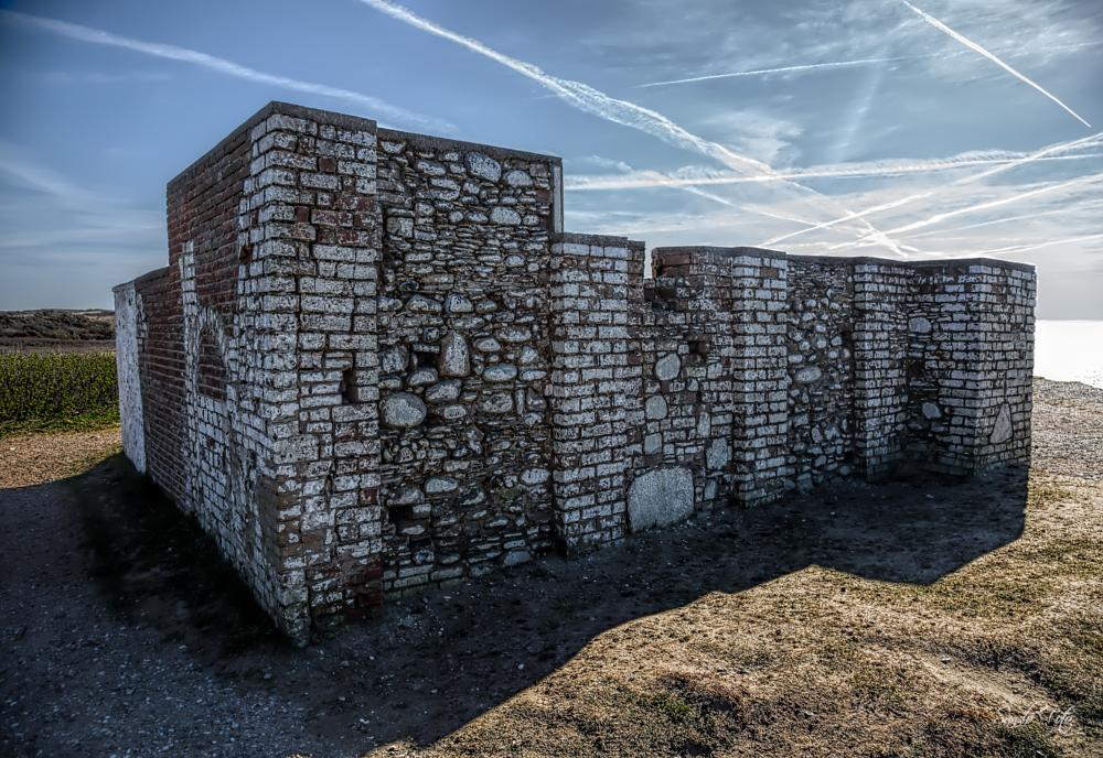 Photo in Travel #lønstrup denmark #travel #denmark #bricks #sky