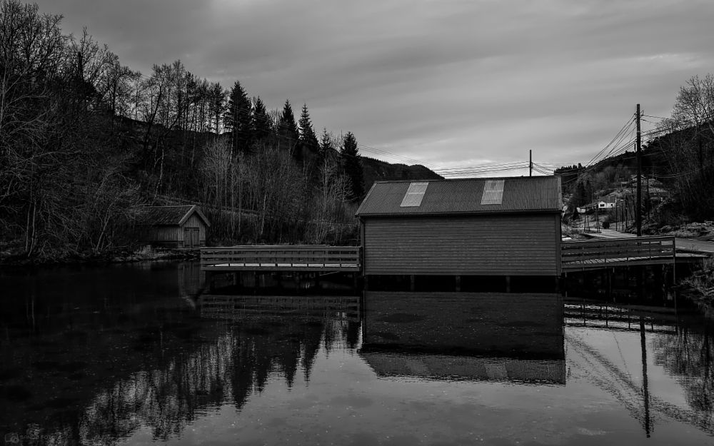 Photo in Black and White #lysekloster norway. #bw #landscape #sky #water #reflection #nature #norway