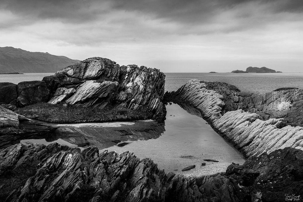 Photo in Black and White #sogn og fjordane #bw #sky #nature #sea #rocks #landcape