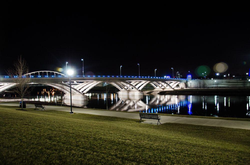 Photo in Cityscape #downtown #columbus #cityscape #bridges