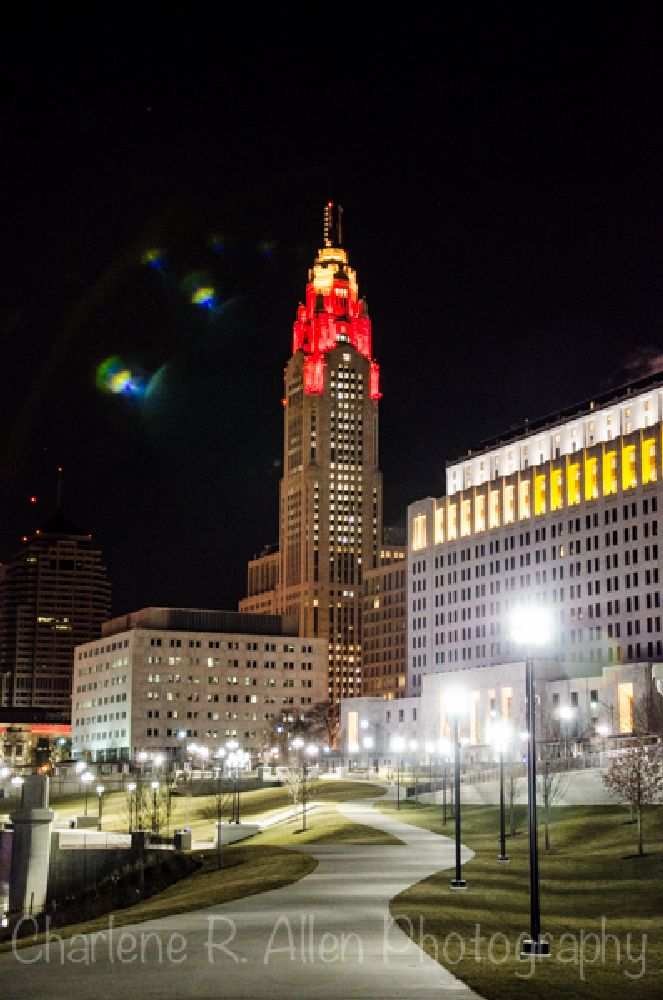 Photo in Cityscape #downtown #cityscape #leveque tower #architecure #nightlife