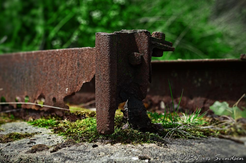 Photo in Abstract #a rusty steel bracket #fotograf lars svendsen #lars svendsen billesholm