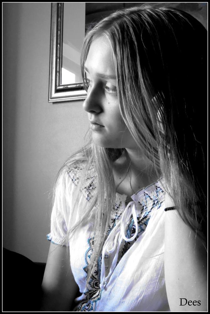 Photo in Black and White #derek #natalie #oliver #dees #wonder #stun #unique #girl #teen #woman
