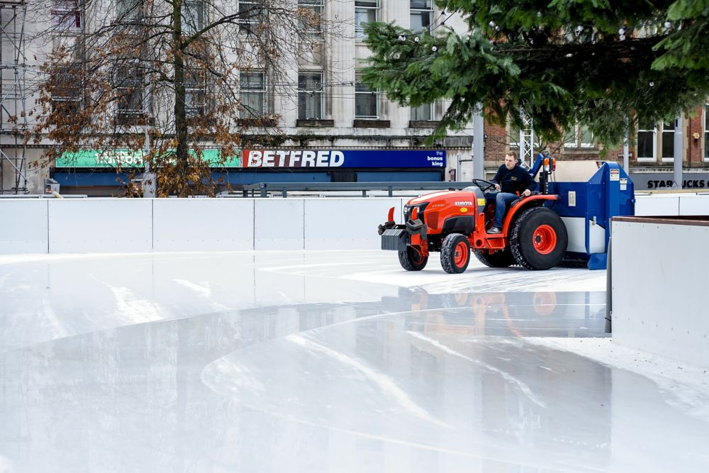 Photo in Street Photography #ice rink #ice #clearing #machine