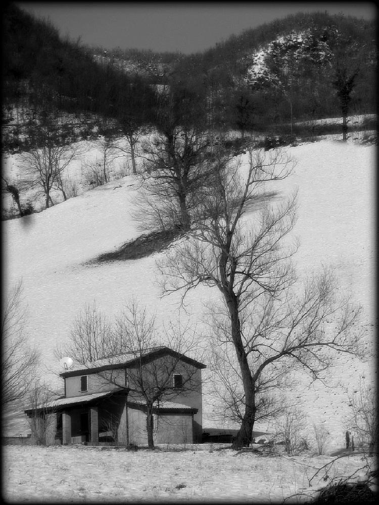 Photo in Landscape #photoloris #winter #snow #tree #house #inverno #neve #casa #albero
