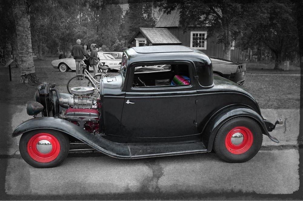 Photo in Vehicle #chevy #chevrolet #ford #hot rod #custom #old car #v8