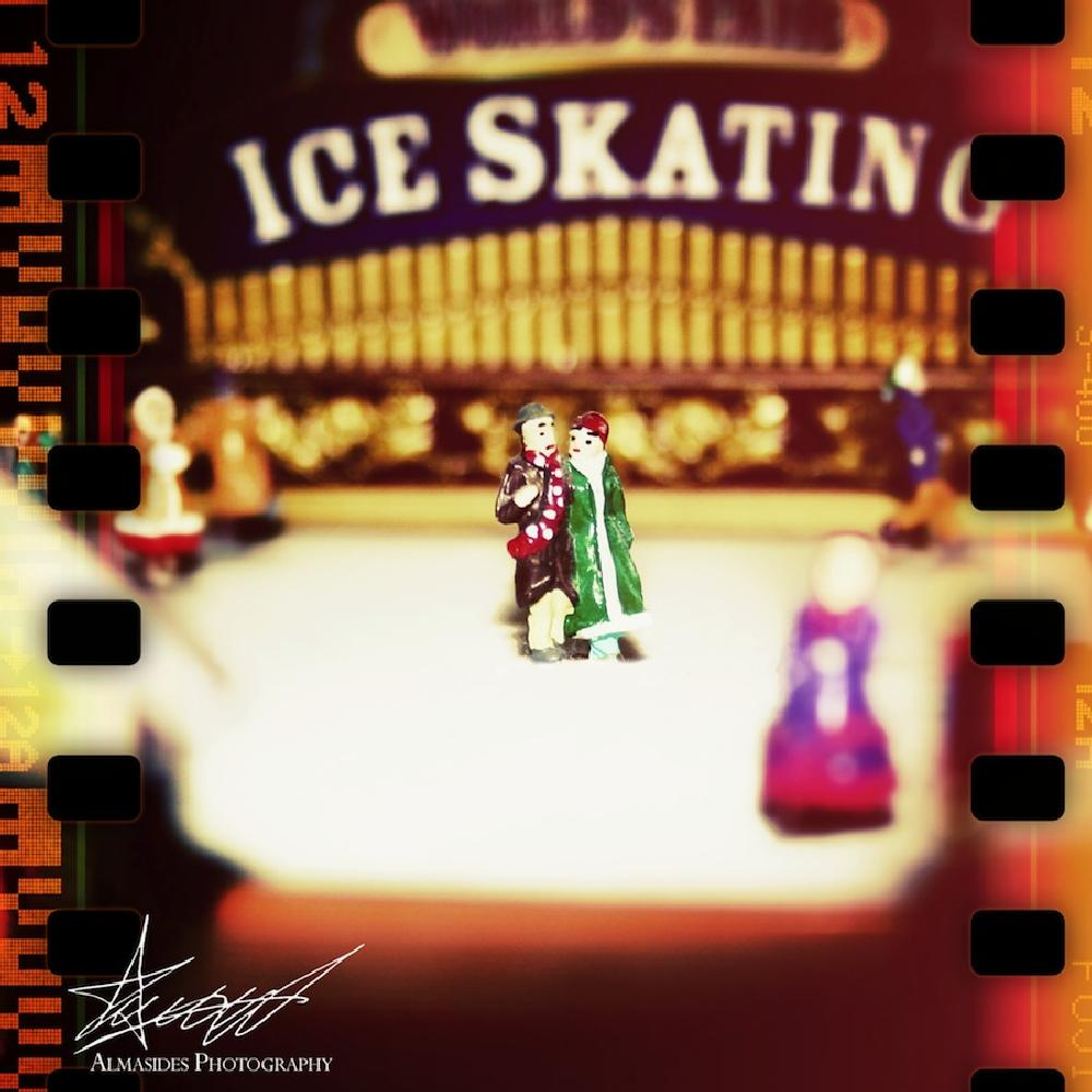 Photo in Fine Art #ice skating #miniatures #mr. christmas