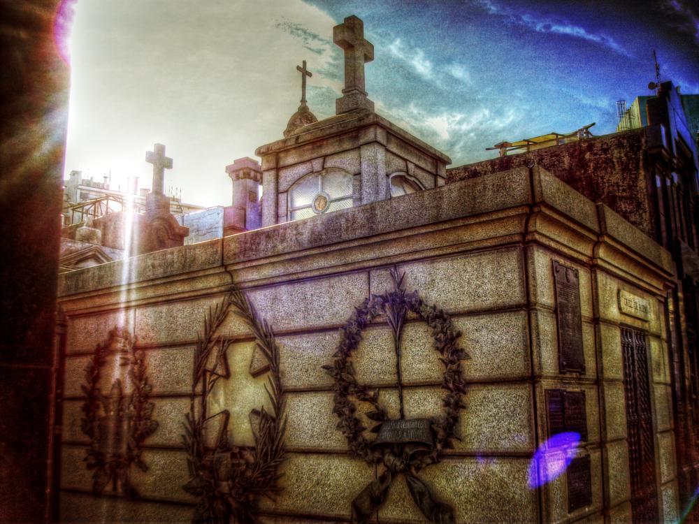 Photo in Urban #argentina #buenos aires #la recoleta #cemetery #architecture #cross #stones