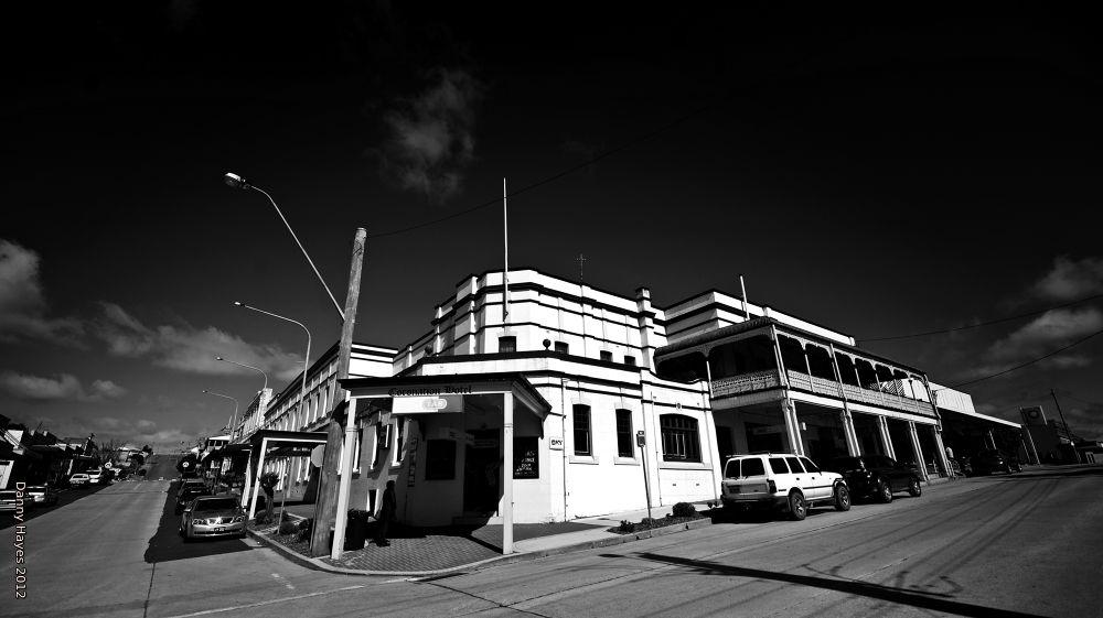 Photo in Architecture #the pub in portland #danny hayes #australia #nsw #black and white
