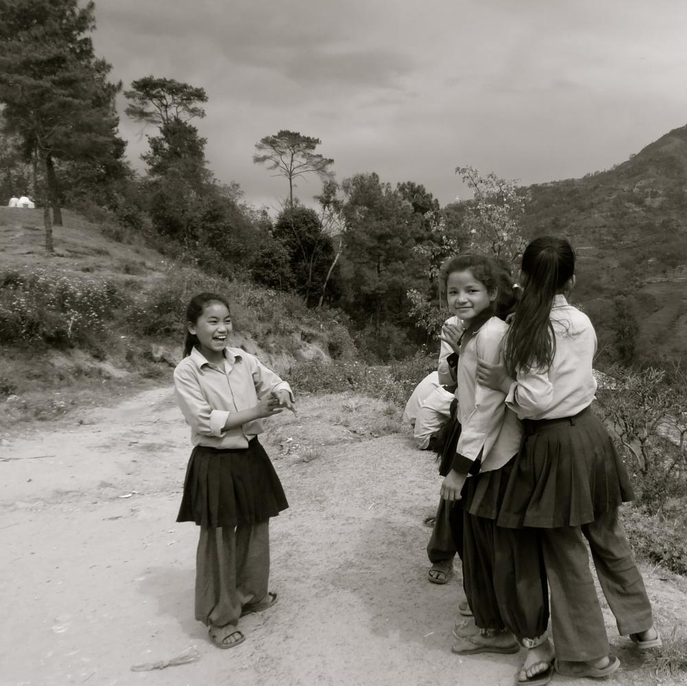 Photo in Black and White #children #culture #nepal #travel #black and white