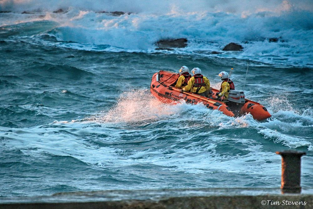 Photo in Publicity #canon #eos #7d mark ii #rnli #lifeboat #sea #wave #cornwall