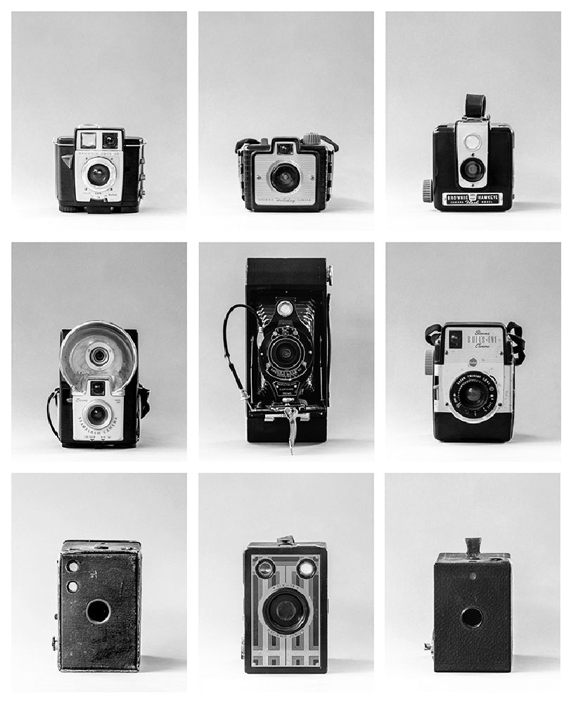 Photo in Black and White #camera #antique #vintage #brownie