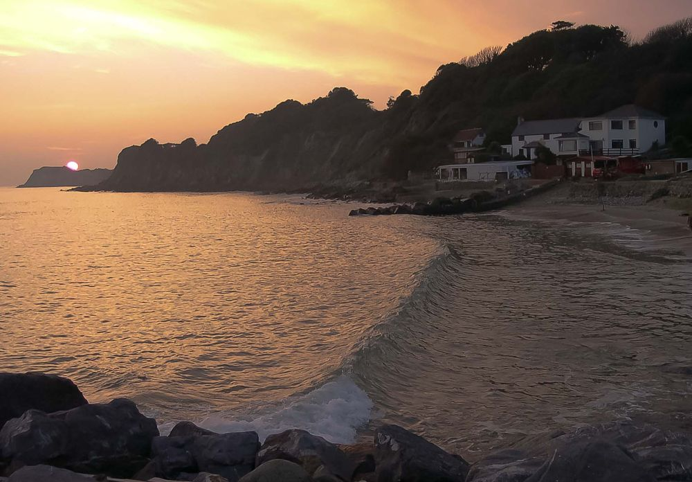 Photo in Sea and Sand #isle of wight #sunset #seascape