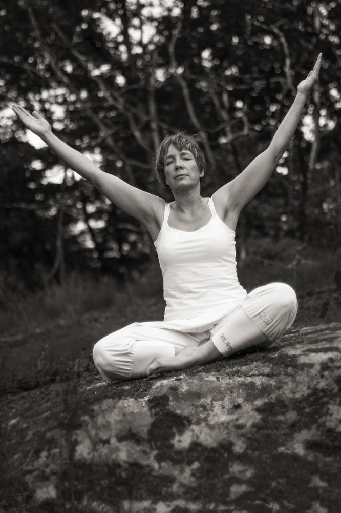 Photo in Black and White #yoga #outdoor #nature #sweden #black and white
