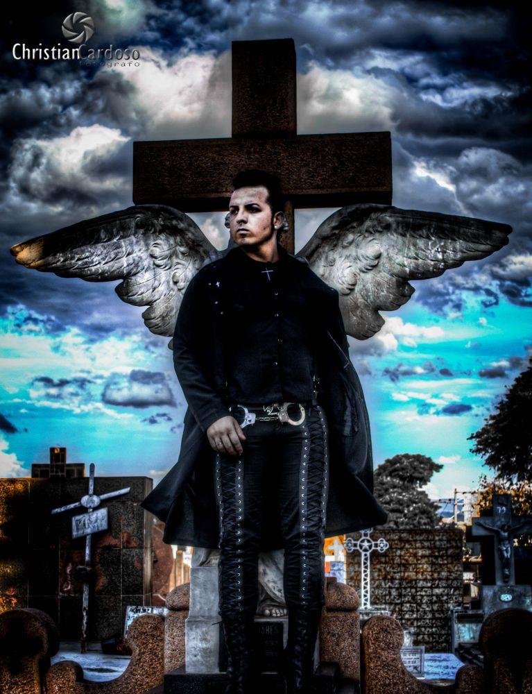 Photo in HDRI #cemitery #sorocaba #angel