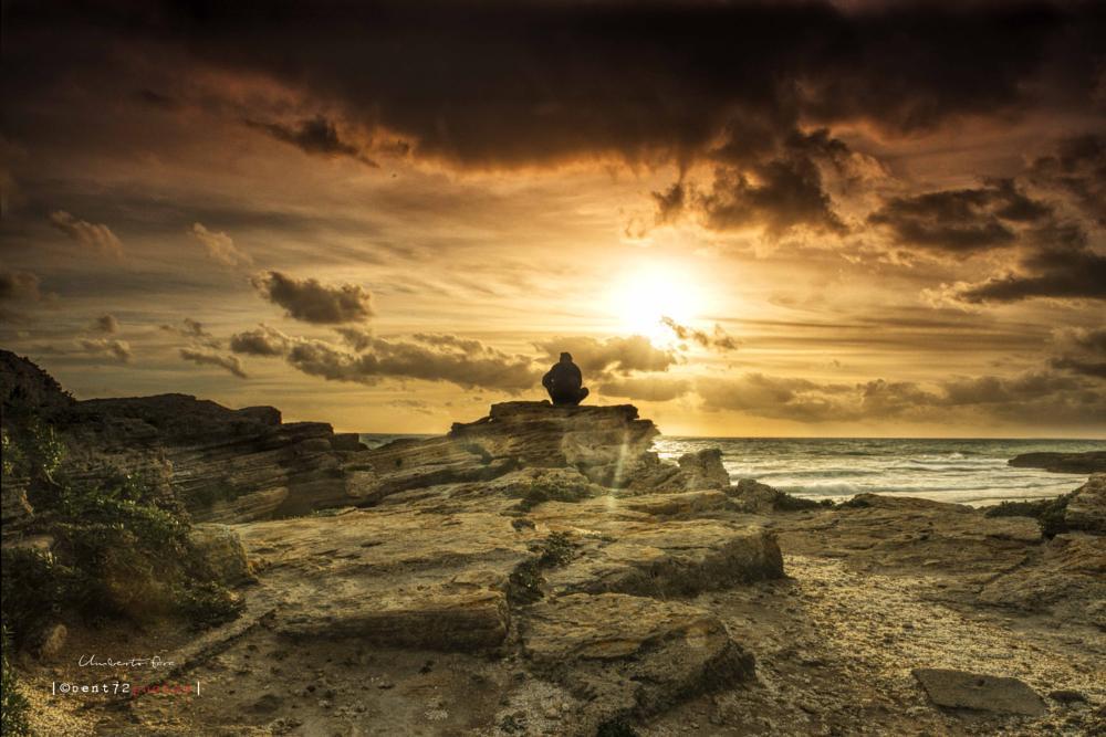 Photo in Landscape #sun #sunset #self #myself #landscape #sea #seascape