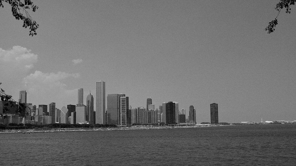 Photo in Random #water #skyline #black and white #lake michigan #chicago #city