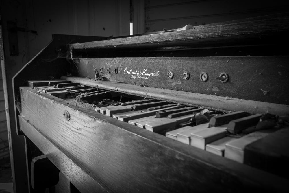 Photo in Black and White #decay #organ #abandoned #old #blackandwhite #sweden #skåne
