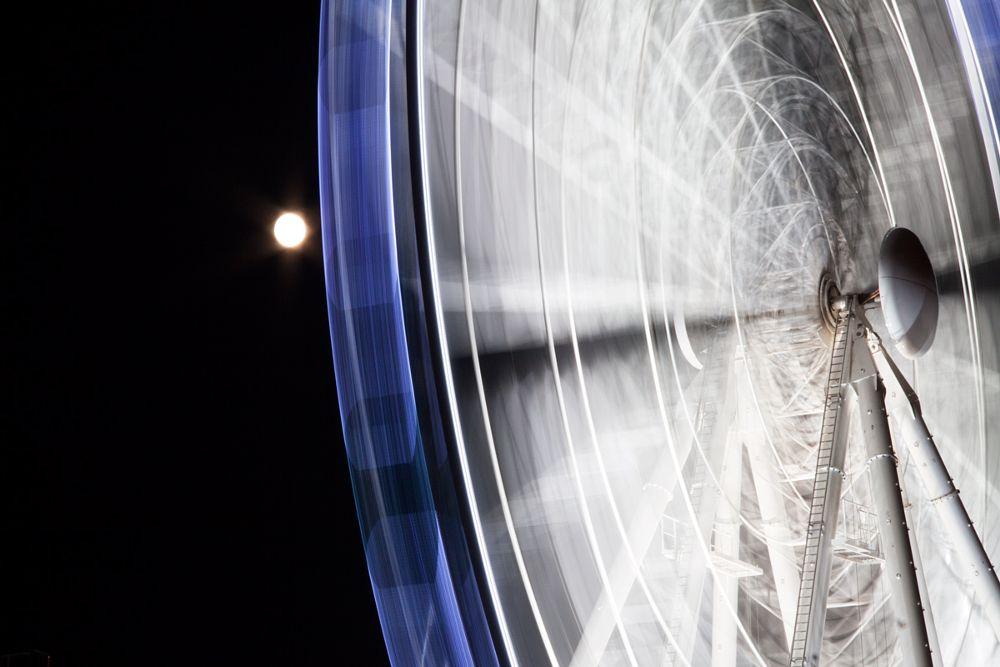 Photo in Abstract #ferris wheelnightviewholyday #gdanskpolandeurope