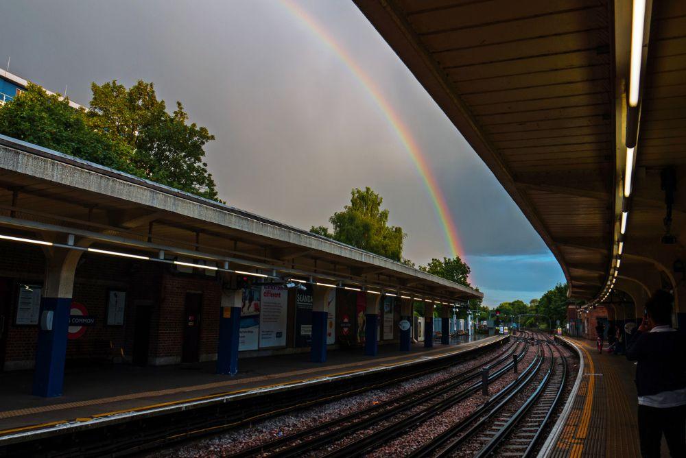 Photo in Urban #tube #gf3 #rainbow #london