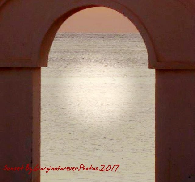 Photo in Abstract #sunset #arch #summer