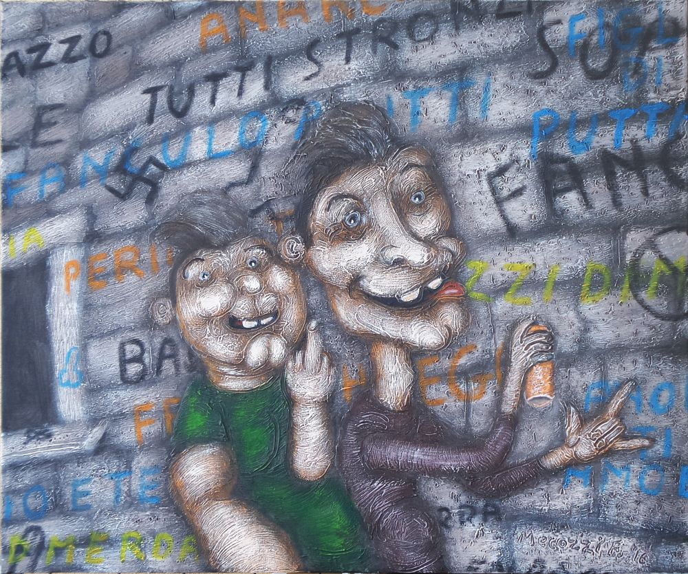 Photo in Fine Art #idioti #selfie #muro #scritte #vandalismo