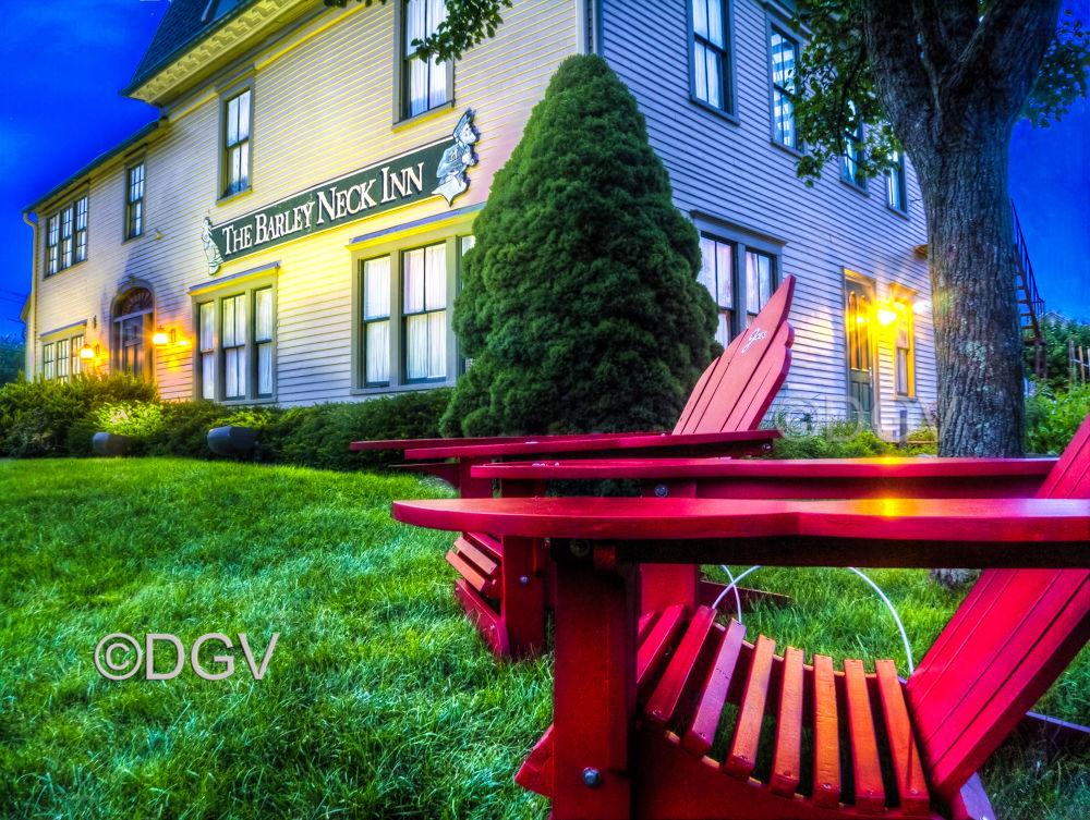 Photo in Random #cape cod #red chairs #barley neck inn #architecture