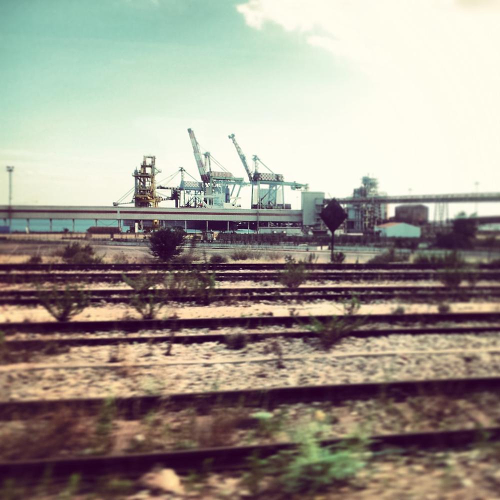 Photo in Industrial #cranes #port #railways #italy
