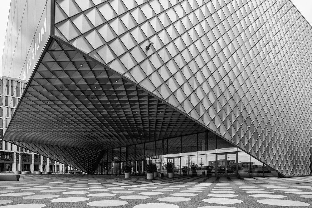 Photo in Architecture #black and white #futurium #berlin #architecture #modern #patterns