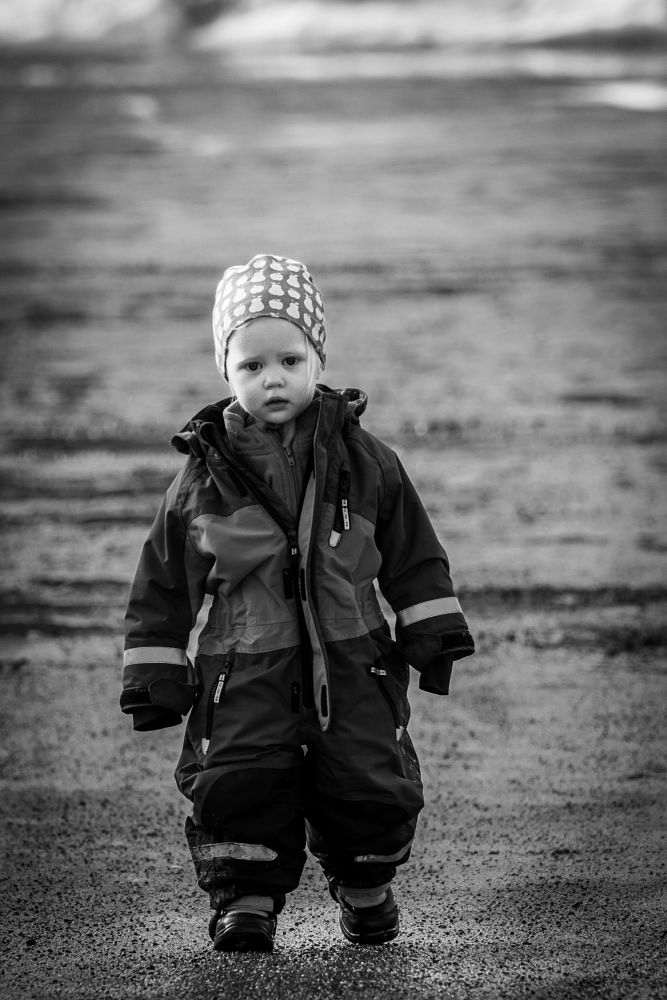 Photo in Black and White #daughter #b&w #walk