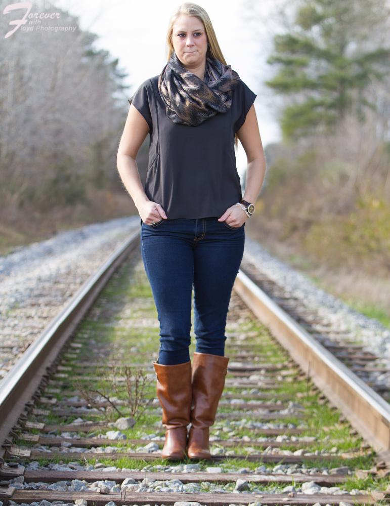 Photo in Portrait #chesapeake virginia #railroad #portrait session