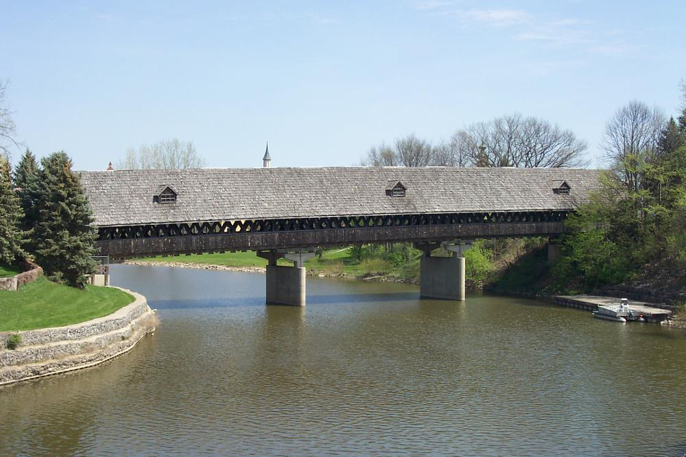 Photo in Architecture #covered bridge #wooden bridge #bridge