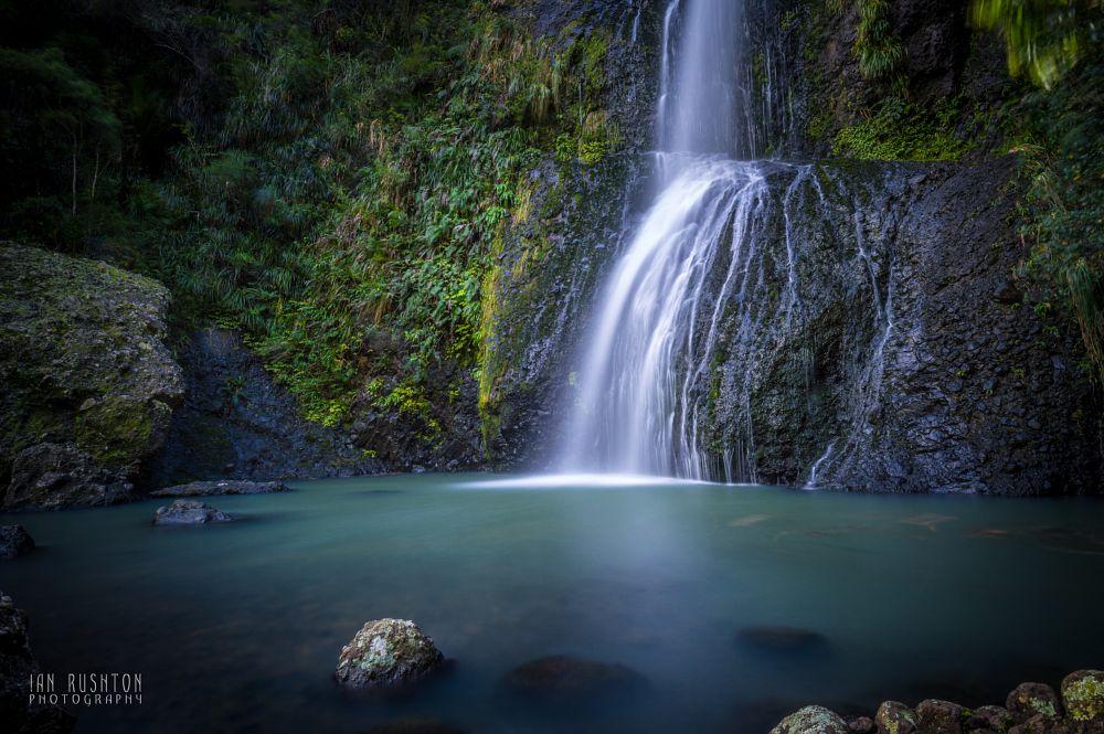Photo in Landscape #falls #waterfall #kitekite #piha #auckland #new zealand