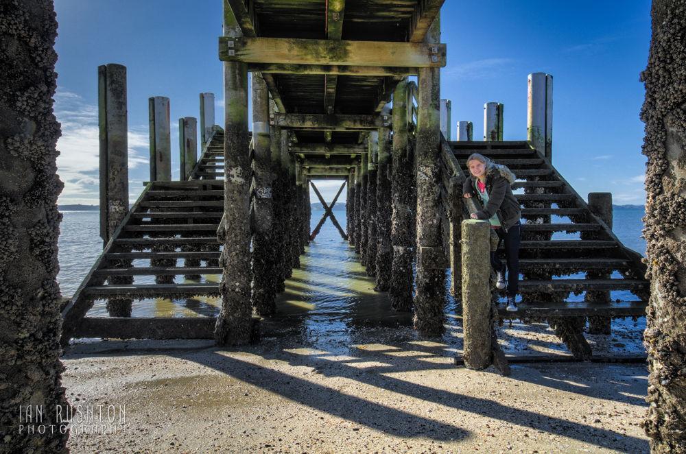 Photo in Random #beach #sand #sea #pier #girl #auckland