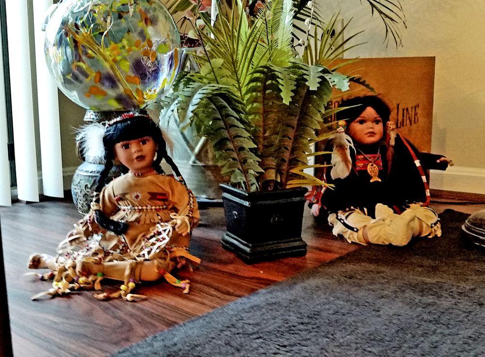 Photo in Random #indian porcelin dolls #jungle #decoration