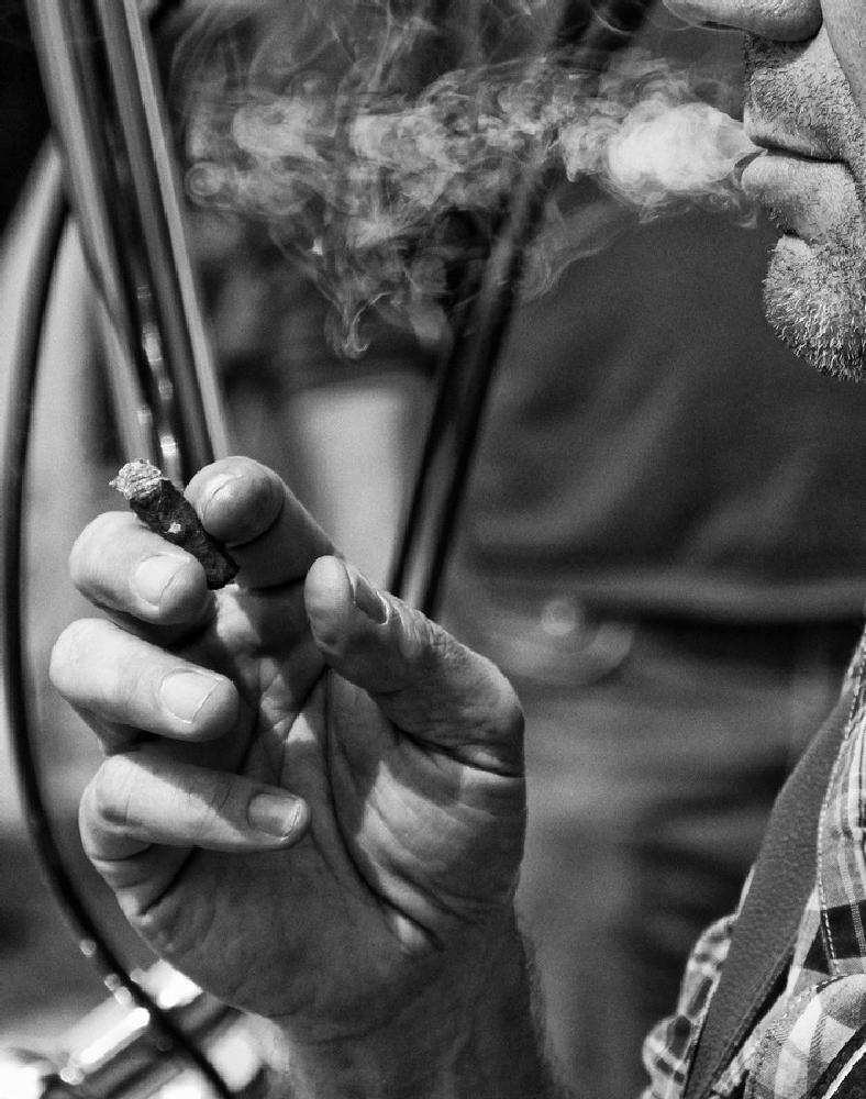 Photo in People #bike #smoke #wheelr #exhibition #b/w